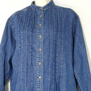 Vintage Neiman Marcus Denim Button Front Shirt
